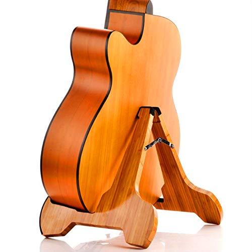 Miwayer - Soporte para guitarra de bambú real, plegable, universal, con protección...