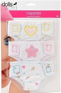 Dolls World Fabric Nappies