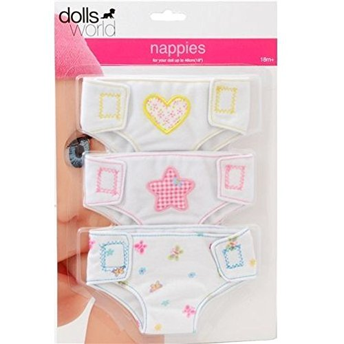 Dolls World Fabric Nappies by Dolls World