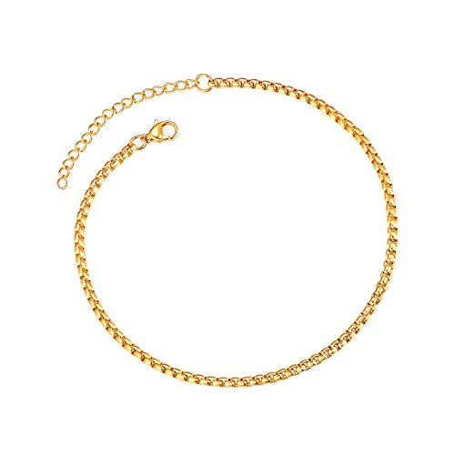 ChainsPro Gold Anklets for Women 11 inch Anklet Gold