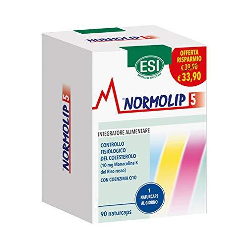 Esi Normolip 5 Integratore Alimentare Controllo del Colesterolo, 90 Naturcaps