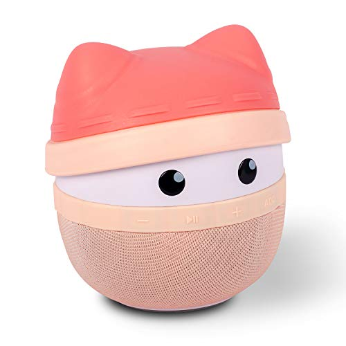 Portable Bluetooth Speaker Asimom Rhyme, Stereo Pairing Speaker, 15H Playing, High Definition Sound, Cute Wireless Speaker, Ideal Gift for Girls and Kids (Lotus Pink)