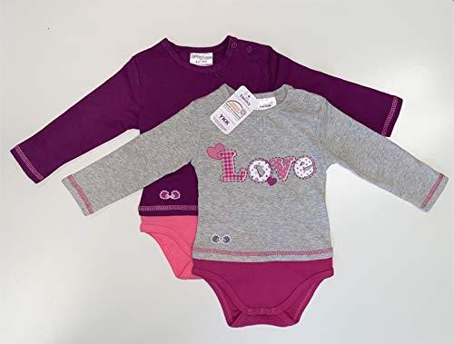 Twins Unisex Baby Body Love 2er Pack, Rosa