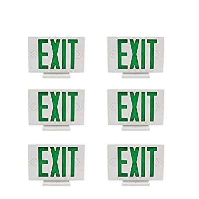 6 Packs Red Indoor LED Exit Sign Emergency Light,UL Certified - Hardwired Red LED Exit Sign