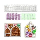 N/A. 3 moldes de silicona para fondant de la casa de Navidad, para chocolate, arcilla polimérica, fondant, decoración de tartas, hogar, cocina, bricolaje, utensilio práctico