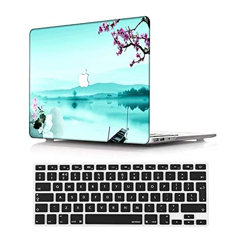 NEWCENT MacBook Pro 13' Funda,Plástico Ultra Delgado Ligero Cáscara Cubierta EU Teclado Cubierta para MacBook Pro 13 Pulgadas con Touch Bar Touch ID(Modelo:A1708/A1706/A1989/A2159),Menta Verde 30