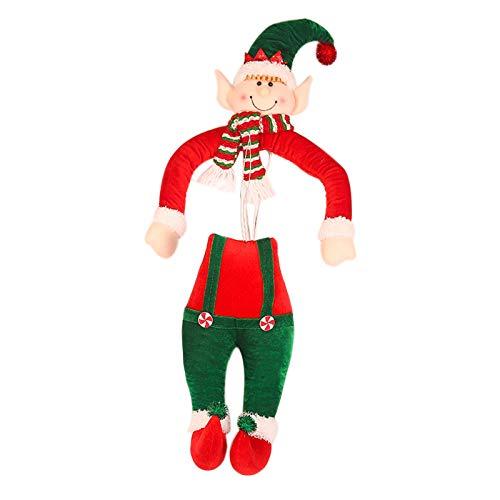 Fsadfeas Christmas Tree Topper Santa Claus Elf Doll Xmas Decorations Home Decor - Handmade (Christmas Elf Doll)