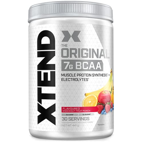 XTEND Original - Suplemento de BCAA en polvo - Cóctel de frutas | Aminoácidos de cadena ramificada | 7g de BCAA con electrolitos para una mayor hidratación y recuperación | 30 raciones