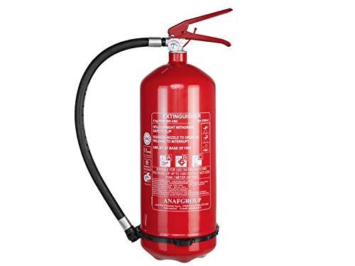 ANAF 6 kg Feuerlöscher Brandklassen A B C Pulverfeuerlöscher Extinguisher DIN EN3 Manomete Extinguisher