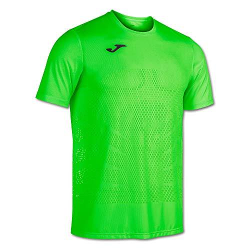 Camiseta Manga Corta Marathon Verde flúor