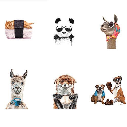 Animal perro caballo panda gato-sushi parches para planchar zorro pegatinas de transferencia de calor apliques lindos calcomanías para ropa de bricolaje única, bolsos de camiseta, jeans, chaquetas