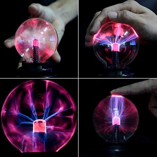 Bola m/ágica de la luz de la esfera de la bola de plasma sensible al tacto Bola m/ágica para la fiesta decoraciones hogar y regalos ni/ños apoyo dormitorio