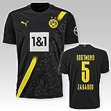 PUMA BVB Auswärtstrikot Kinder Saison 2020/21, Größe:128, Spielername:5 Zagadou