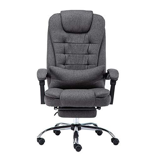DJDLLZY - Sedie direzionali ergonomiche, grandi e alte, sedia da ufficio con schienale imbottito, 181,4 kg, altezza regolabile, imbottitura spessa per poggiatesta e braccioli per la casa