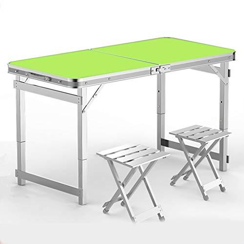 Mount Kombination aus Picknicktisch und Stuhl, Kombination aus Esstisch im Freien, kohlensäurehaltiger Biertisch mit Metallrahmen, bis zu 150 kg, Klapptisch mit Einstellbarer Höhe