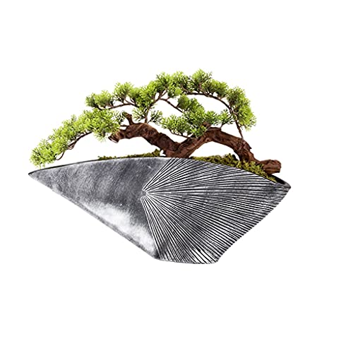 Bonsai Decorative Árbol de bonsái artificial Árbol Verde artificial Planta Verde Creative Shell RESIN POT POT CASA DE ESTUDIO DE ESTUDIO DE ESTUDIO DE OFICINA Decoración de la oficina Árbol falso Bons