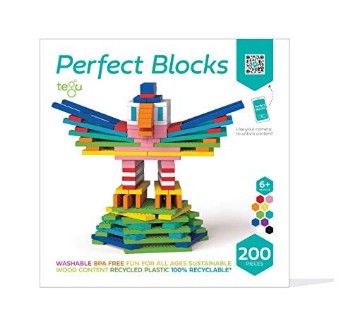 Tegu 200 Piece Perfect Blocks Building Set, Multicolor (Amazon Exclusive)