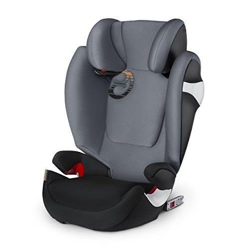 Cybex Seggiolino Auto per Bambini Solution M-Fix, per Auto con e Senza Isofix, Gruppo 2/3/15, 36 Kg, Collezione Colori 2018, Pepper Black