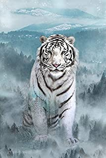 White Tiger/Ice Blue #R4564-190 Ice Blue - Call of The Wild Digital Print - 28