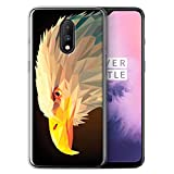 Stuff4 Phone Case for OnePlus 7 Geometric Animal Wildlife
