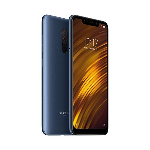 Xiaomi Pocophone F1 128GB Steel Blue, Dual Sim, 6GB RAM, Dual Camera, 6.18', GSM Unlocked Global Model, No Warranty