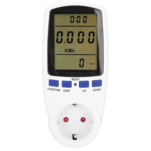 Pwshymi Toma de medición fácil de Leer Monitor de Electricidad Toma de medidor de Potencia Digital para Cocina casera(#1)