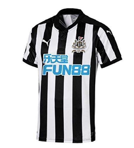 PUMA Herren Newcastle Home Replica Shirt with Sponsor Logo Fußball T, Black/White, M
