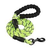 Arnés para perros Gran perro reflectante cuerda duradera correa de perro grande caminar grande perro collar fortalecer tracción arnés redondo nylon mediano perro plomo ( Color : Green , Size : 150cm )