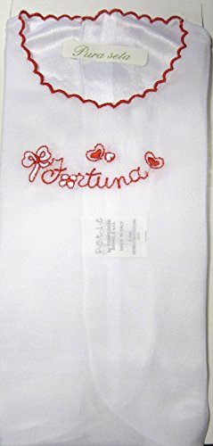 CAMICINO SETA PORTAFORTUNA (bianco rosso)