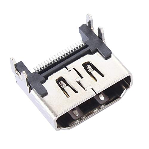 ScqbGzwxghz - Conector de interfaz de puerto HDMI para Playstation 4 PS4, color plateado