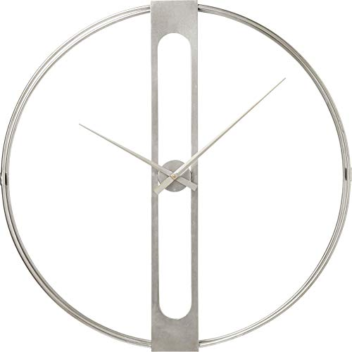 Kare Wanduhr Clip Silber, 60cm, One Size