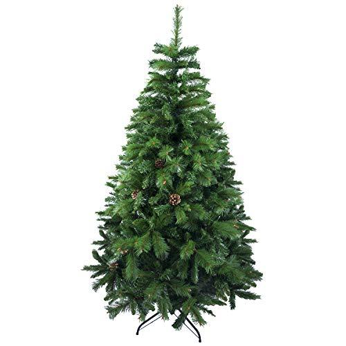Árbol de Navidad Artificial Abeto con Soporte Metálico, 150 cm