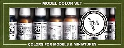 Vallejo Modèle de peinture acrylique métallique de couleur–Couleurs assorties (Lot de 8)
