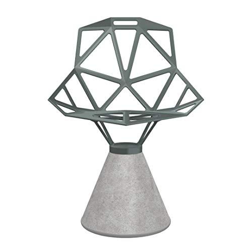 Magis Chair One Stuhl Zementfuß, grau-grün BxHxT 55x80x59cm Nicht drehbar Titan und Polyester fluoriert lackiert Zementfuß Ø35cm