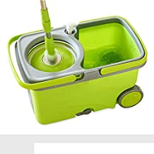 Magic Mop Mop Bucket Lazy Mop Spinning Mop Bucket Hands-Free Household Wet and Dry Washable Spin Durable