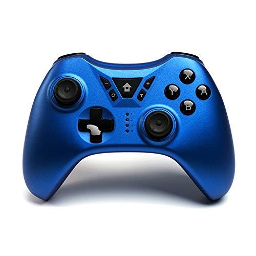 Frame Controlador Inalámbrico Bluetooth, Vibración De Doble Cuerpo 600 Mah, Compatible con El Controlador De Juegos PS3 Android TV Box PC,Azul