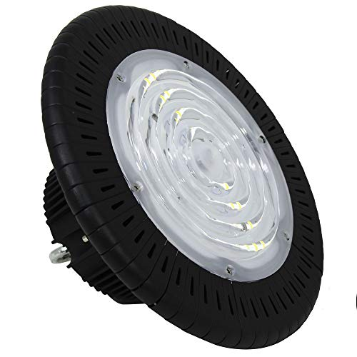 FactorLED Industrie-Dunstabzugshaube LED UFO 150 W Chip OSRAM 3030-2D 160 lm/W Lampe ideal für Industriehalle IP65 [Energieeffizienzklasse A++] (5 Jahre Garantie) Kaltweiß