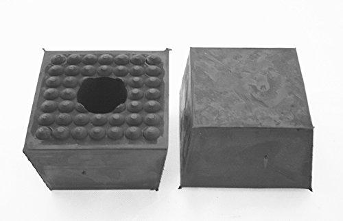 120x120x80mm Gummiauflage (Pyramide) Gummi-Unterlage Auflage Wagen-Heber Hebebühne Auto Klotz Rangier-Wagenheber Puffer Reifen Reifenwechsel LKW Räder KFZ Tuning Zubehör