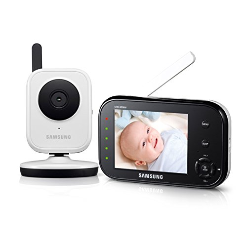 Find Bargain Samsung SEW-3036W BabyVIEW Baby Monitoring System IR Night Vision Zoom 3.5 inch