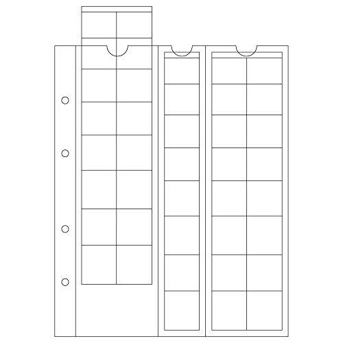 Leuchtturm 308740 hojas OPTIMA, para series de EURO de hasta 26 mm Ø, transparentes