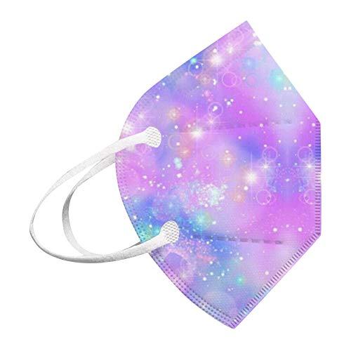 Koippimel Tie-Dye Disposable Face_Masks for Kids, 5-Plys Non-Woven_Mask, 30Pcs, 0220, 61