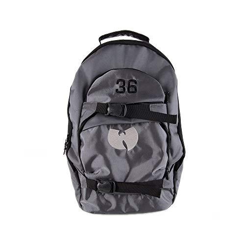 Wu Wear Rucksack, Wu Tang Clan Urban Streetwear Fashion Backpack, Hip Hop, Unisex, grau Größe One Size