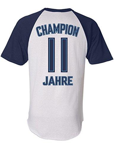 Geburtstags Shirt: Champion 11 Jahre - Sport Fussball Trikot Junge T-Shirt für Jungen - Geschenk-Idee zum 11. Geburtstag - Elf-TER Jahrgang 2009 - Fußball Club Fan Stadion Mannschaft (164)
