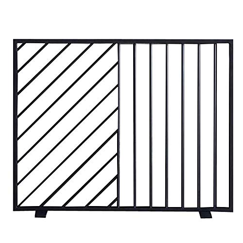 Best Prices! WJMLS Modern Simple Fireplace Screen - Mesh Kids Pets Safety Gate, Wrought Iron