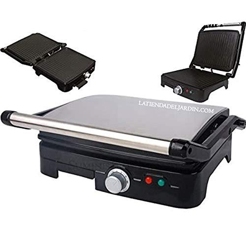 Suinga PANINI Grill Profesional 2000W 7 Niveles de Temperatura, Parrilla eléctrica, Plancha y sandwichera con Revestimiento de Piedra 35 x 34.
