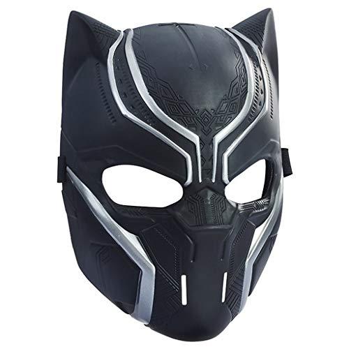 SSRS Black Panther Power Mask Legends Series Black Panther Captain America Helmet (Color : B)