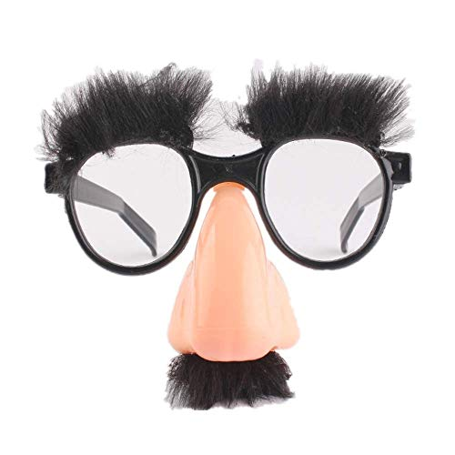 Gshy - Gafas dolores, para cejas, bigote, nariz, unisex, disfraz de noche, regalo para niñas de sol