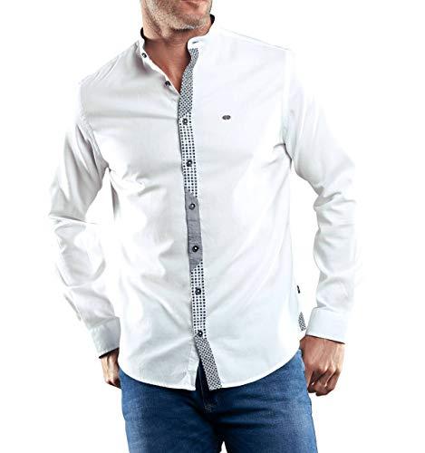 engbers Herren Hemd mit stylischer Knopfleiste, 29376, Weiß in Größe XXL
