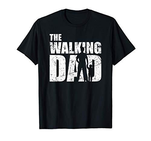 Uomo The walking Dad Regalo di padre in attesa per gli uomini Maglietta