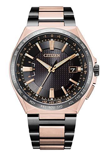 [シチズン] 腕時計 アテッサ エコ・ドライブ電波時計 ダイレクトフライト ACT Line 限定モデル 世界限定1,700本 CB0215-77E メンズ ブラック